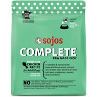 Sojos Complete Chicken Recipe Adult Freeze-Dried Grain-Free Raw Dog Food, 1.75-lb bag