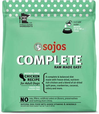 Sojos Complete Chicken Recipe Adult Freeze-Dried Grain-Free Dehydrated Dog Food