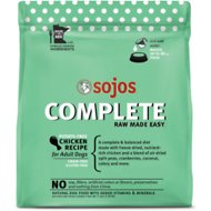 Sojos Complete Chicken Recipe Adult Freeze-Dried Grain-Free Raw Dog Food, 7-lb bag