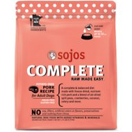 Sojos Complete Pork Recipe Adult Grain-Free Freeze-Dried Raw Dog Food, 1.75-lb bag