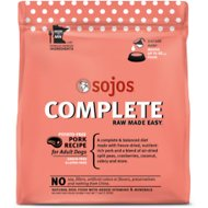 Sojos Complete Pork Recipe Adult Grain-Free Freeze-Dried Raw Dog Food, 7-lb bag