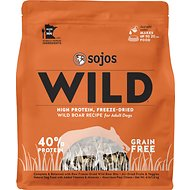 Sojos Wild Boar Recipe Grain-Free Freeze-Dried Adult Dog Food, 4-lb bag