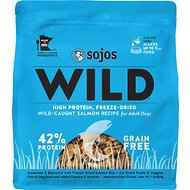 Sojos Wild-Caught Salmon Recipe Grain-Free Freeze-Dried Adult Dog Food, 1-lb bag