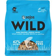Sojos Wild-Caught Salmon Recipe Adult Grain-Free Freeze-Dried Dog Food, 4-lb bag