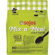 Sojos Mix-A-Meal Fruit & Veggie Pre-Mix Grain-Free Raw Dog Food, 8-lb bag