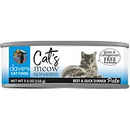 Dave's Pet Food Cat's Meow Beef with Duck Dinner Canned Cat Food, 5.5-oz, case of 24