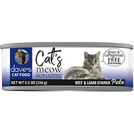 Dave's Pet Food Cat's Meow Beef with Lamb Dinner Canned Cat Food, 5.5-oz, case of 24