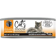 Dave's Pet Food Cat's Meow Chicken with Duck Dinner Canned Cat Food, 5.5-oz, case of 24