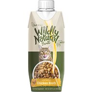 Fruitables Wildly Natural Low-Sodium Chicken Broth Cat Food Topper, 16.9-oz carton