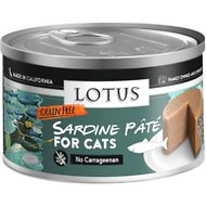 Lotus Sardine Grain-Free Pate Canned Cat Food, 2.75-oz, case of 12