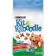 Kit & Kaboodle Indoor Dry Cat Food, 3.15-lb bag