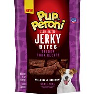 Pup-Peroni Tender Pork Recipe Slow Roasted Jerky Bites Grain-Free Dog Treats, 5-oz bag
