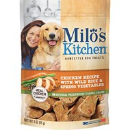 Milo's Kitchen Chicken Recipe With Wild Rice & Spring Vegetables Dog Treats, 3-oz bag