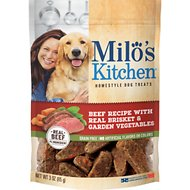 Milo's Kitchen Beef Recipe With Real Brisket & Garden Vegetables Dog Treats, 3-oz bag