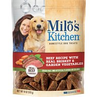 Milo's Kitchen Beef Recipe With Real Brisket & Garden Vegetables Dog Treats, 18-oz bag