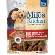 Milo's Kitchen Beef Recipe With Real Brisket & Garden Vegetables Dog Treats, 22-oz bag