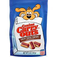 Canine Carry Outs Beef Flavor Hot Dog Minis Dog Treats, 5-oz bag
