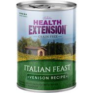 Health Extension Grain-Free Italian Feast Venison Recipe Canned Dog Food, 12.5-oz, case of 12