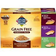 Nature's Recipe Original Grain-Free Variety Pack Canned Dog Food, 2.75-oz, case of 24