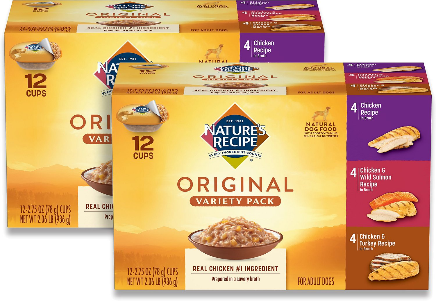 Nature's Recipe Original Variety Pack Canned Dog Food, 2 ...