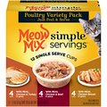 Meow Mix Simple Servings Poultry Variety Pack Cat Food Trays
