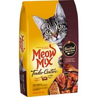 Meow Mix Tender Centers Basted Bites Chicken and Tuna Flavor Dry Cat Food, 3-lb bag