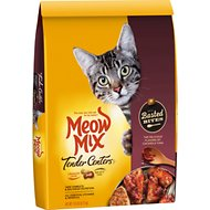 Meow Mix Tender Centers Basted Bites Chicken and Tuna Flavor Dry Cat Food, 13.5-lb bag