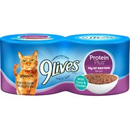 9 Lives Protein Plus with Tuna and Chicken Canned Cat Food, 5.5-oz, case of 24