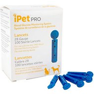 iPet PRO Ulti-Thin Sterile Lancets for Dogs & Cats, 28-Gauge, 100 count