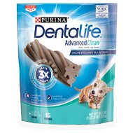 DentaLife Advanced Clean Oral Care Mini Dental Dog Treats, 15 count