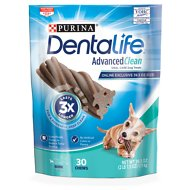 DentaLife Advanced Clean Oral Care Mini Dental Dog Treats, 30 count