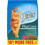 9 Lives Plus Care with Tuna & Egg Flavor Dry Cat Food, 13.2-lb bag