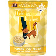 Weruva Cats in the Kitchen Pumpkin Lickin' Chicken in Pumpkin Soup Grain-Free Cat Food Pouches, 3-oz pouch, case of 12