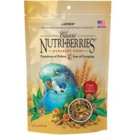 Lafeber Classic Nutri-Berries Parakeet Bird Food, 10-oz bag