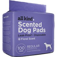 All Kind Floral Scent Dog Training Pads, 21 x 21-in, 100 count