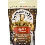Newman's Own Dog Biscuits Bacon Flavor Dog Treats, 10-oz bag