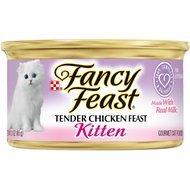 Fancy Feast Kitten Tender Chicken Feast Canned Cat Food, 3-oz, case of 24