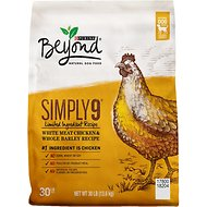 Purina Beyond Simply 9 White Meat Chicken & Whole Barley Recipe Dry Dog Food, 30-lb bag