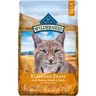 Blue Buffalo Wilderness Flatland Feast with Turkey, Quail & Duck Grain-Free Dry Cat Food, 10-lb bag