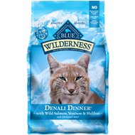 Blue Buffalo Wilderness Denali Dinner with Wild Salmon, Venison & Halibut Grain-Free Dry Cat Food, 4-lb bag