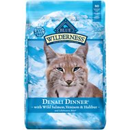 Blue Buffalo Wilderness Denali Dinner with Wild Salmon, Venison & Halibut Grain-Free Dry Cat Food, 10-lb bag