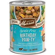 Merrick Birthday Paw-ty Wet Dog Food, 12.7-oz, case of 12