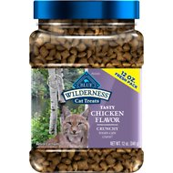 Blue Buffalo Wilderness Chicken Formula Crunchy Grain-Free Cat Treats, 12-oz jar