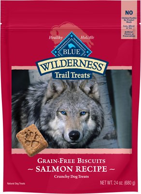 Blue Buffalo Wilderness Trail Treats Salmon Biscuits Grain Free Dog