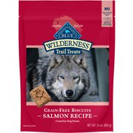 Blue Buffalo Wilderness Trail Treats Salmon Biscuits Grain-Free Dog Treats, 24-oz bag