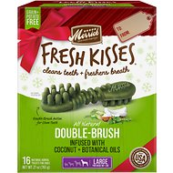 Merrick Fresh Kisses Holiday Coconut Dental Dog Treats, Large,16 count
