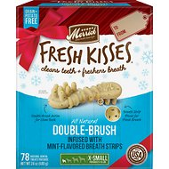 Merrick Fresh Kisses Holiday Mint Dental Dog Treats, X-Small, 78 count