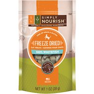 Simply Nourish 100% Whitefish Grain-Free Freeze-Dried Cat Treats, 1-oz bag