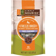 Simply Nourish 100% Chicken Grain-Free Freeze-Dried Cat Treats, 1-oz bag