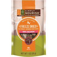 Simply Nourish 100% Salmon Grain-Free Freeze-Dried Cat Treats, 1-oz bag